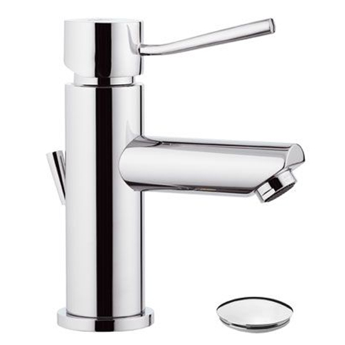 Single lever washbasin mixer chrome with pop-up waste,<br>AN: N10