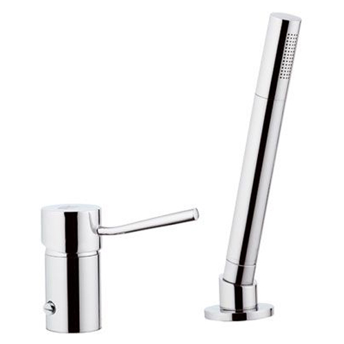 2-holes deck mounted mixer with diverter and shower chrome,<br>AN: N27