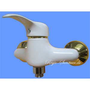 Single lever shower mixer white / gold,<br>AN: M31WG