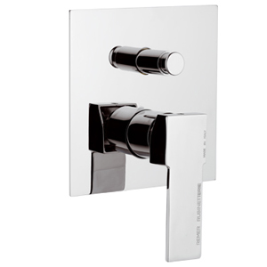 Built-in square single lever mixer with diverter chrome,<br> AN: Q09