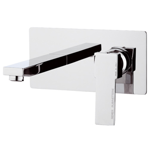 Built-in square single lever mixer with spout chrome, <br>AN: Q15