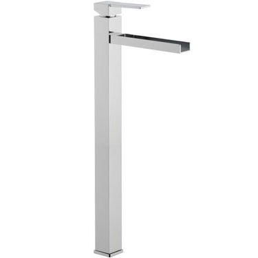 Extra high square single lever washbasin mixer with waterfall spout chrome, <br>AN: QC11LXXL