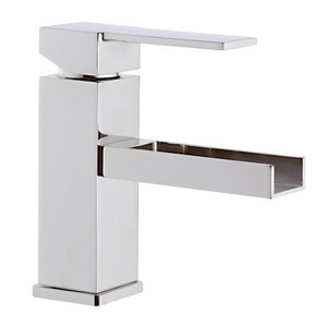Square single lever washbasin mixer with waterfall spout chrome, <br>AN: QC11