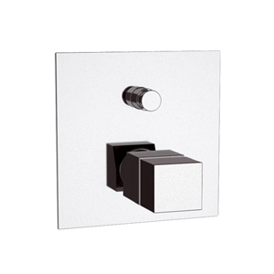 Square built-in thermostatic mixer with diverter chrome,<br> AN: QT09