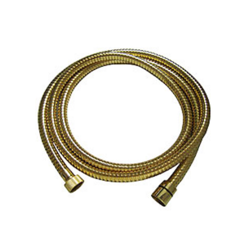 Metal shower hose gold 24 Karat 150 cm,<br>AN: 333CN150DO