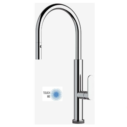 Sink mixer chrome with TOUCH-ME PRO technology and pull-out handshower,<br>AN: NKT73