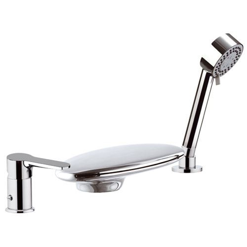 Waterfall 3-holes deck mounted bathtub mixer chrome with shower set, <br>AN: W07UF