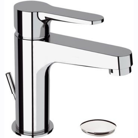Single lever washbasin mixer chrome with pop-up waste, <br>AN: W10