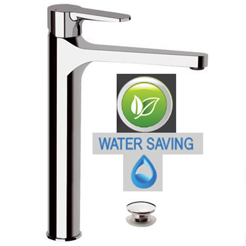 High single lever water saving washbasin mixer chrome with click-clack waste, <br>AN: WE10LLT8