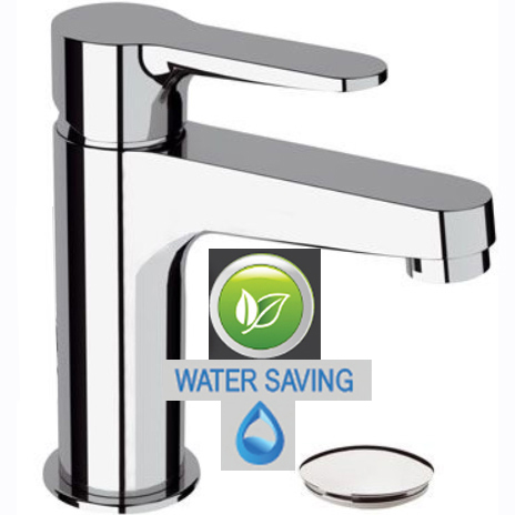 Single lever water saving washbasin mixer chrome, <br>AN: WE11LT8