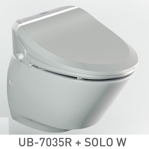 SET: Electronic toilet seat UB-7035R Comfort + Wall-hung WC SOLO W