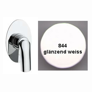3-ways diverter built-in single lever mixer shiny white handle chrome for bath or shower,<br>AN: AC0680844