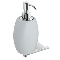 Wall mounted ceramic liquid soap dispenser with holder chrome,<br>AN: AI500201015