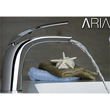 Cascade spout single lever washbasin mixer chrome with up and down pop-up waste,<br>AN: AI832001015
