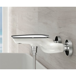 Single lever bathtub mixer shiny white handle chrome,<br>AN: AI850102844