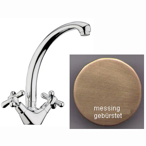 Nostalgic 2-handle sink mixer bronze brush-finished,<br>AN: AM780301065