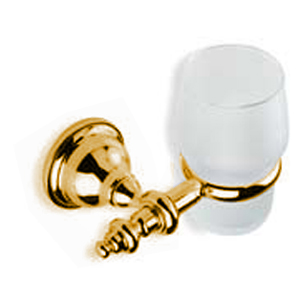 Nostalgic wall mounted toothbrush tumbler with holder gold 24 Karat,<br>AN: AM500301010