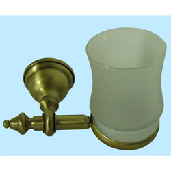 Nostalgic wall mounted toothbrush tumbler with holder bronze brush-finished,<br>AN: AM500301065