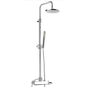 Wellness single lever shower mixer with column, shower head and handshower chrome, handle with Swarovski Crystals,<br>AN: AS870105015