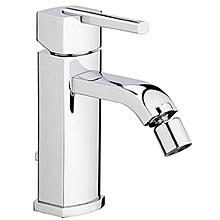 Single lever bidet mixer chrome, handle with Swarovski Crystals and pop-up waste,<br> AN: AS840101015