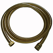 Metal shower hose gold 24 Karat 150 cm,<br>AN: AC0442010