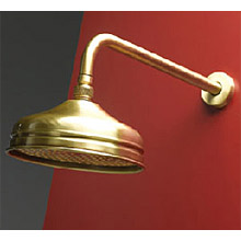 Nostalgic shower head with wall bracket bronze brush-finished,<br>AN: AC0014065