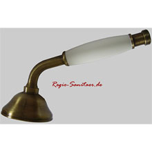 Nostalgic hand shower bronze brush-finished with white handle,<br>AN: AC0428065