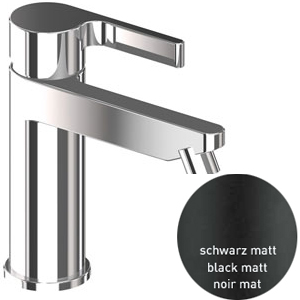 Single lever bidet mixer black matt with pop-up waste, <br>AN: DR840101560