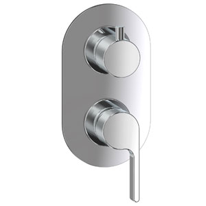 Single lever built-in mixer chrome with diverter for shower or bath,<br>AN: DR860101015