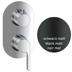 Single lever built-in mixer black matt with diverter for shower or bath,<br>AN: DR860101560