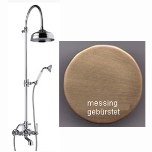 Nostalgic 2-handle bathtub mixer with column, shower head and handshower bronze brush-finished,<br>AN: DO721208065