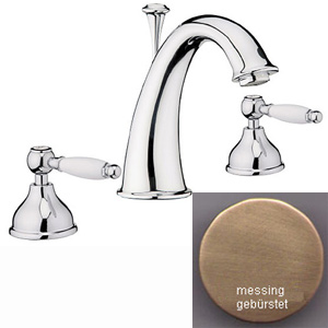 Nostalgic 2-handle 3-holes washbasin mixer bronze brush-finished with pop-up waste,<br>AN: DO750101065