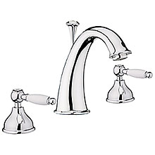 Nostalgic 2-handle 3-holes washbasin mixer chrome with pop-up waste,<br>AN: DO750101015