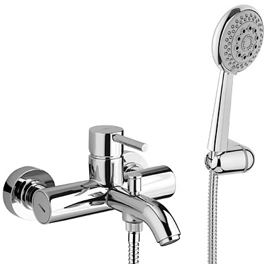 Single lever bathtub mixer chrome with shower set,<br>AN: EL850101015