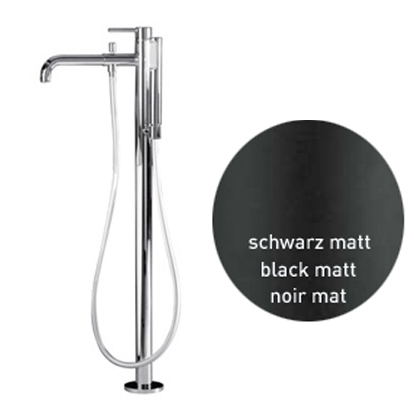 Single lever bathtub mixer with floor connections and shower set black matt,<br>AN: EL851101560