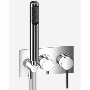 Built in single lever bathtub mixer with diverter and shower set chrome,<br>AN: EL860512015