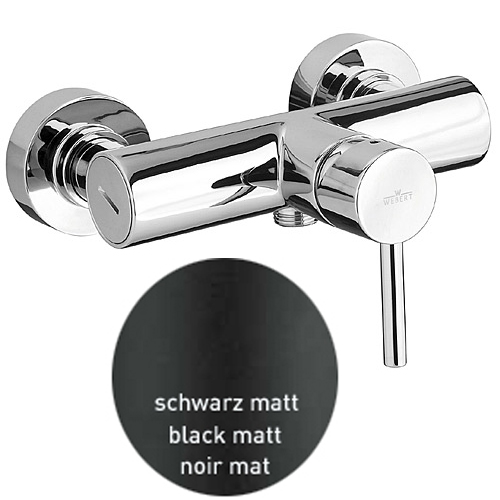 Single lever shower mixer black matt,<br>AN: EL870102560