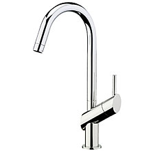 Single lever sink mixer chrome with pull-out spray and swivel spout,<br>AN: HB940301015