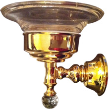 Wall mounted soap dish with holder gold 24 Karat and original Swarovski Crystal,<br>AN: KA500101010