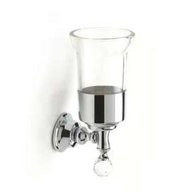 Wall mounted toothbrush tumbler with holder chrome and original Swarovski Crystal,<br>AN: KA500301015