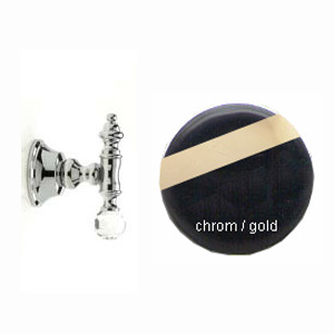 Wall mounted hook chrome / gold with original Swarovski Crystal,<br>AN: KA500401017