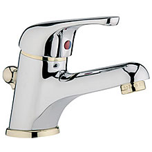Single lever washbasin mixer chrome / gold with pop-up waste,<br>AN: MA830101017