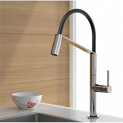 Single lever sink mixer chrome with swing arm shower,<br>AN: OB920601015