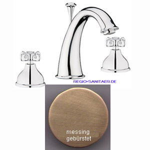 Nostalgic 2-handle 3-holes washbasin mixer bronze brush-finished with pop-up waste,<br>AN: OT750101065
