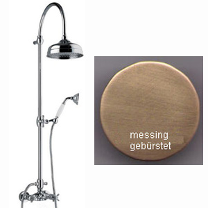 Nostalgic 2-handle shower mixer with column, shower head and handshower bronze brush-finished,<br>AN: OT760405065