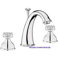 Nostalgic 2-handle 3-holes washbasin mixer chrome with pop-up waste,<br>AN: OT750101015