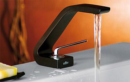 Waschtischarmatur Schwarz single lever washbasin mixer matt black chrome with up and