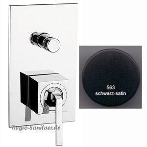 Single lever built-in mixer matt black handle chrome with diverter for shower or bath,<br>AN: WO860101564