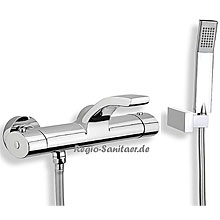 Thermostatic bathtub mixer chrome with shower set,<br>AN: WO980201015