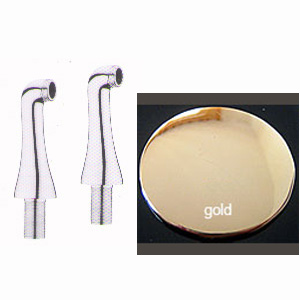 2 high legs gold 24 Karat for deck mounted bath mixer,<br>AN: AC0043010